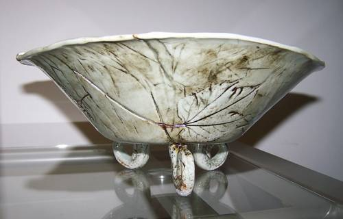 Serving Bowl, autumn leaves